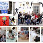 Bildcollage bestehend aus Szenen des Schulalltags im Europagymnasium Baumgartenberg. SchülerInnen am Mikroskop, beim gemeinsamen Lernen, am computer und als Gruppe vor dem Schulgebäude.