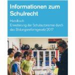 """Titelbild des Handbuchs """"Informationen zum Schulrecht"""""""