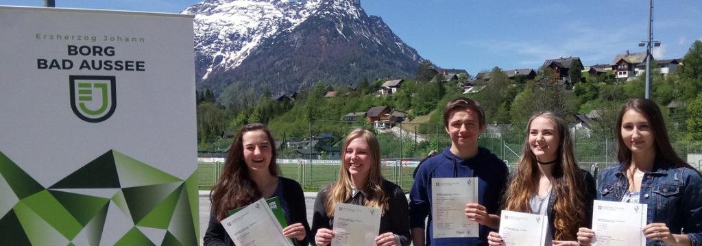 Schülerinnen und Schüler des Clusters Bad Aussee