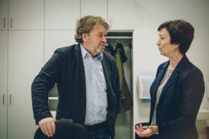 SQM Alfred Lehner im Gespräch mit Schulleiterin
