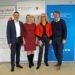 Landesrätin Mag.a (FH) Daniela Winkler (2.v.r.) mit Direktor Prof. Dipl-Ing. Dr. Wilfried Lercher, MA, Geschäftsführerin Dr. Ingrid Puschautz-Meidl (Industriellenvereinigung Burgenland) und Netzwerkmanager Alfred Lehner (Bildungsdirektion Burgenland) (v.l.). stehen nebeneinander